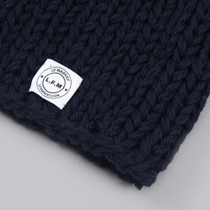 LF Markey Coloured Beanie - Navy (Image 1)