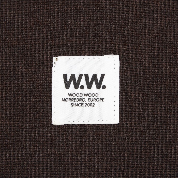 Wood Wood Tall Beanie - Brown (Image 1)