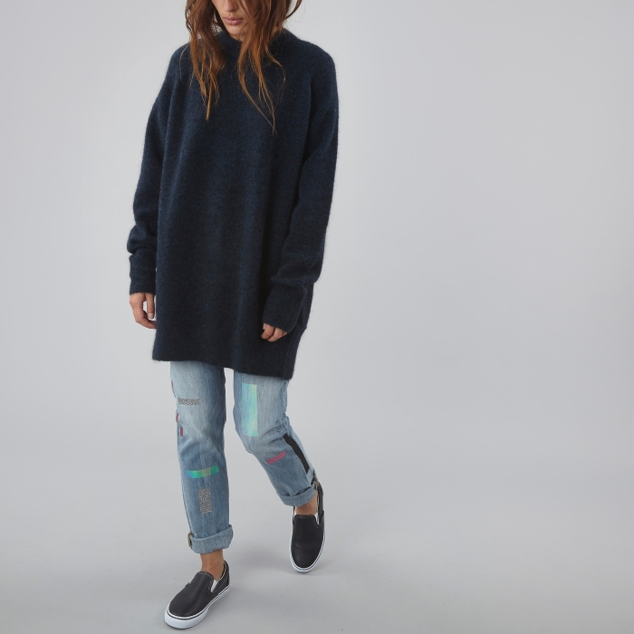 Wood Wood Claudia Sweater - Dark Navy (Image 1)