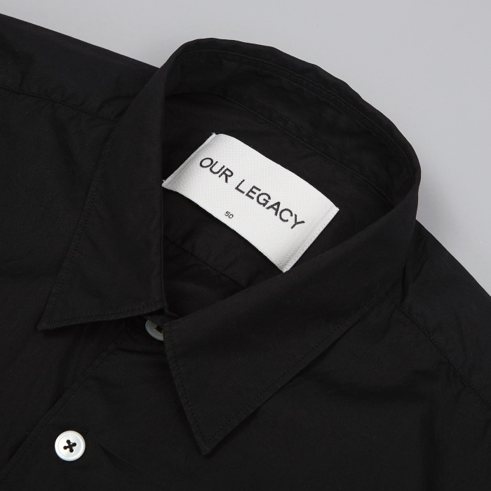 Our Legacy First Shirt - Black Poplin (Image 1)