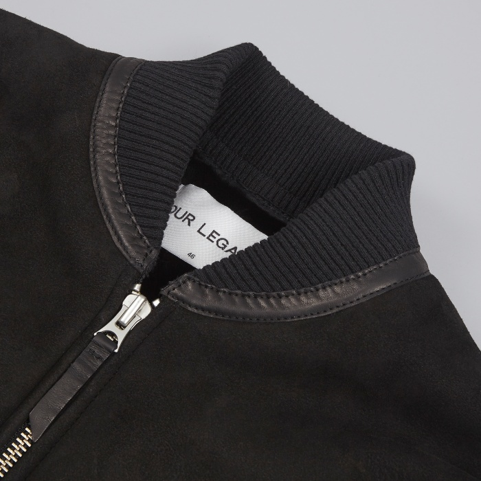 Our Legacy Shearling Bomber - Matte Black (Image 1)