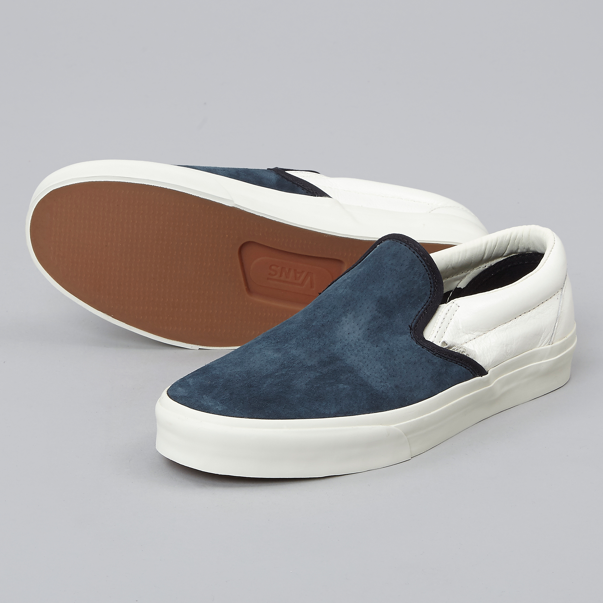 vans slip on scotchgard navy