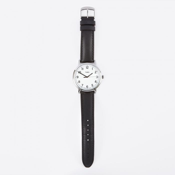 Timex Original Classic Round Watch - White Face/Black Strap (Image 1)