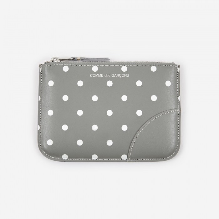 Comme des Garcons Wallets Polka Dot Print (SA8100PD) - Grey (Image 1)