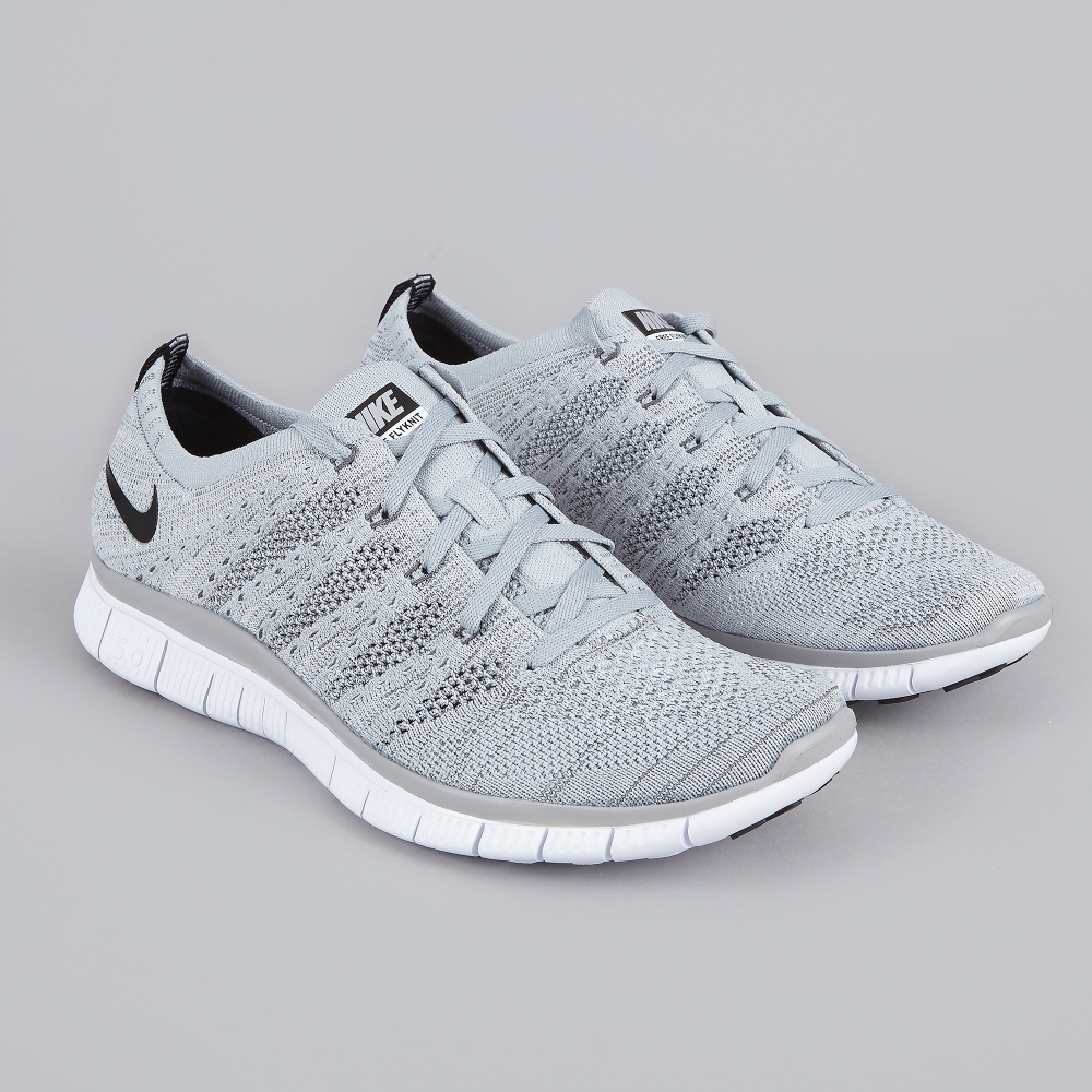 nike grey free flyknit nsw women