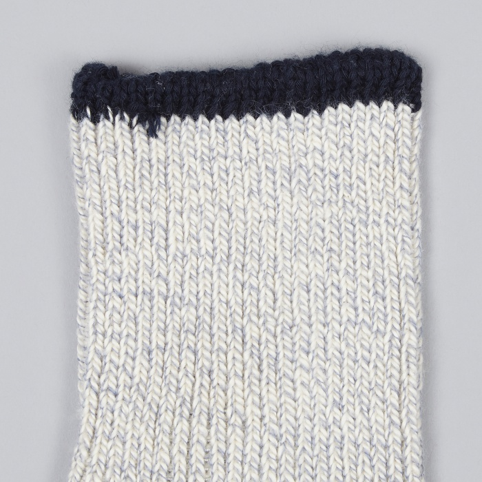 Universal Works Rib Sock - Denim (Image 1)