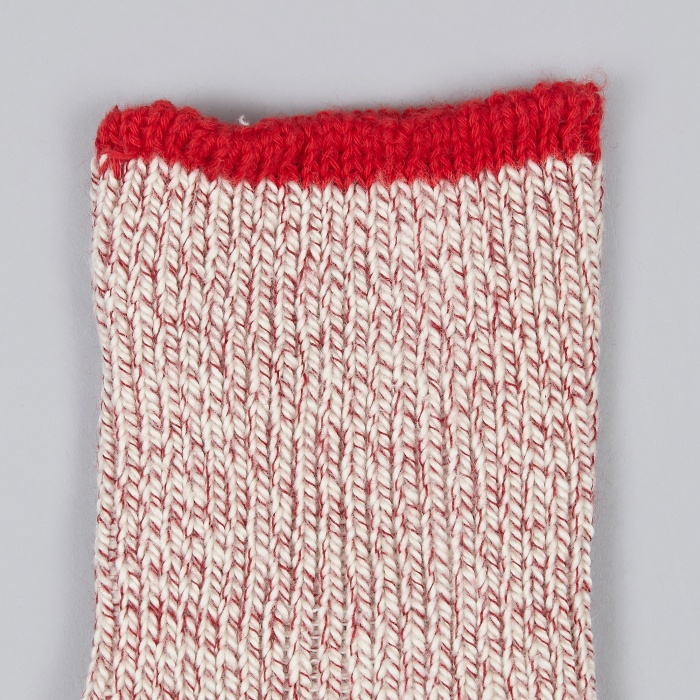 Universal Works Rib Sock - Red (Image 1)