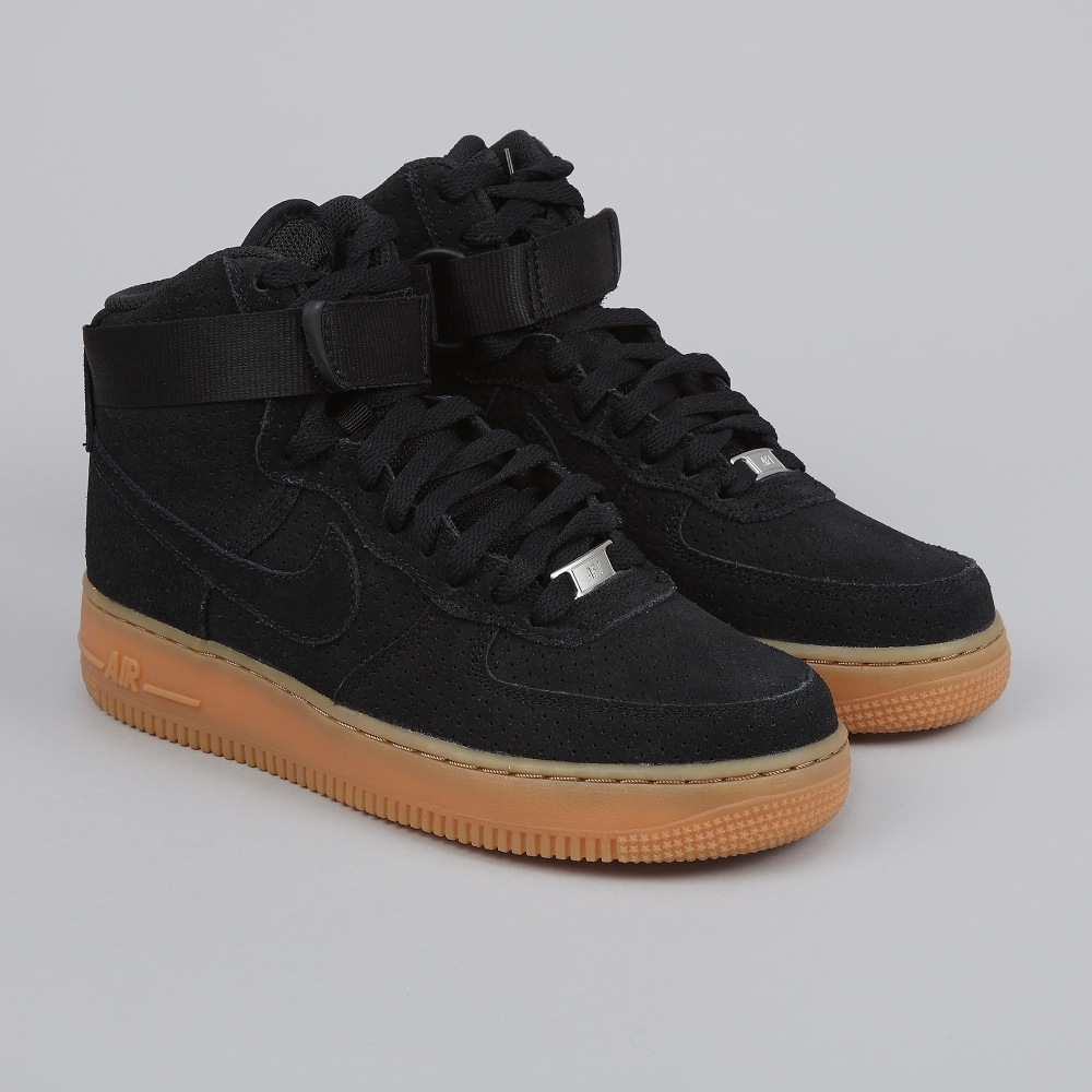 nike sportswear air force 1 hi suede black/black