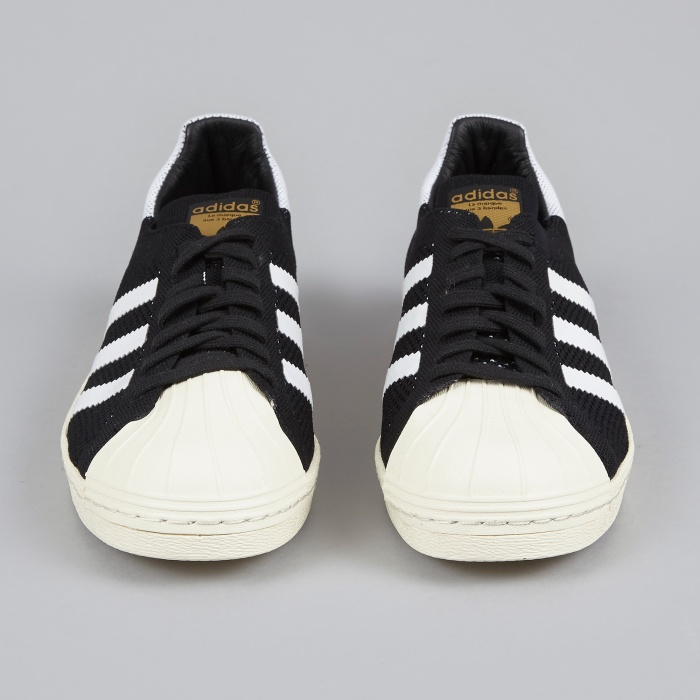 Adidas Superstar 80s Primeknit - Black/White (Image 1)