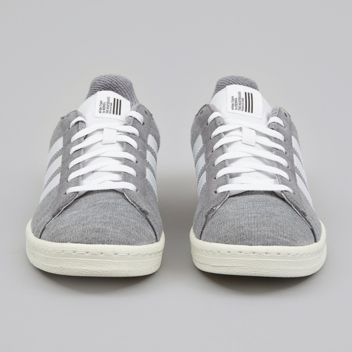 Adidas x Bedwin Campus 80s - Grey Heather/White (Image 1)