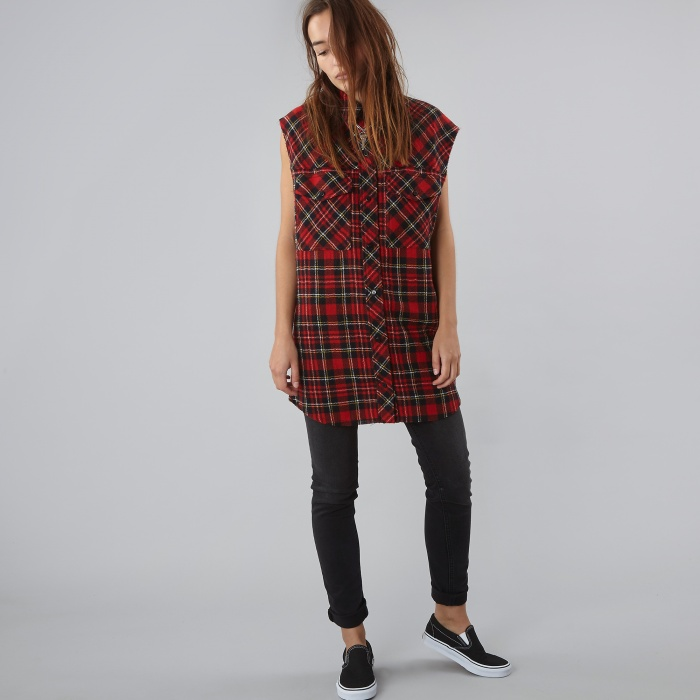 Filles A Papa Wild Dress - Red Check (Image 1)