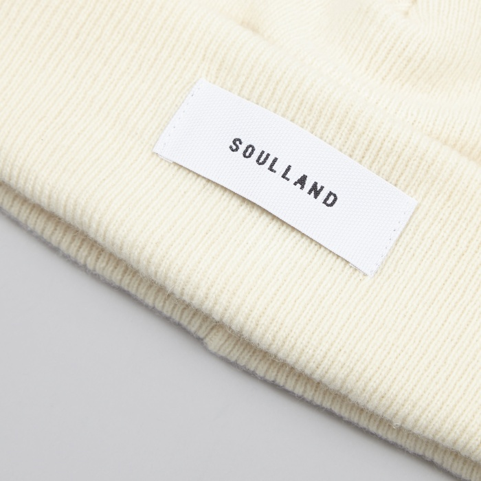 Soulland Villy Beanie - Off White (Image 1)