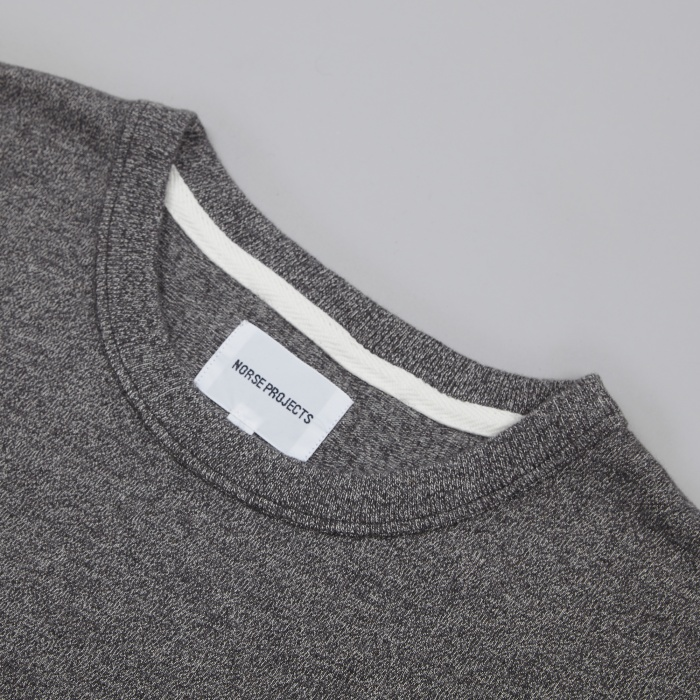 Norse Projects James Moulinex T-Shirt - Charcoal Melange (Image 1)