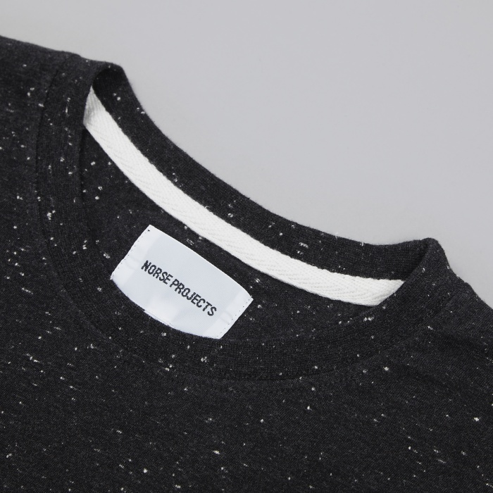 Norse Projects Niels Boucle T-Shirt - Charcoal (Image 1)