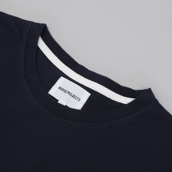 Norse Projects Niels Basic T-Shirt - Navy (Image 1)