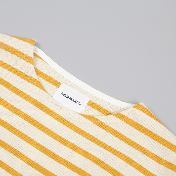 Norse Projects Godtfred Compact T-Shirt - Mustard Yellow (Image 1)