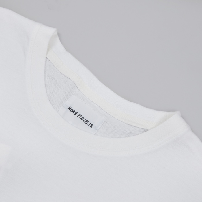Norse Projects Niels Basic LS T-Shirt - White (Image 1)