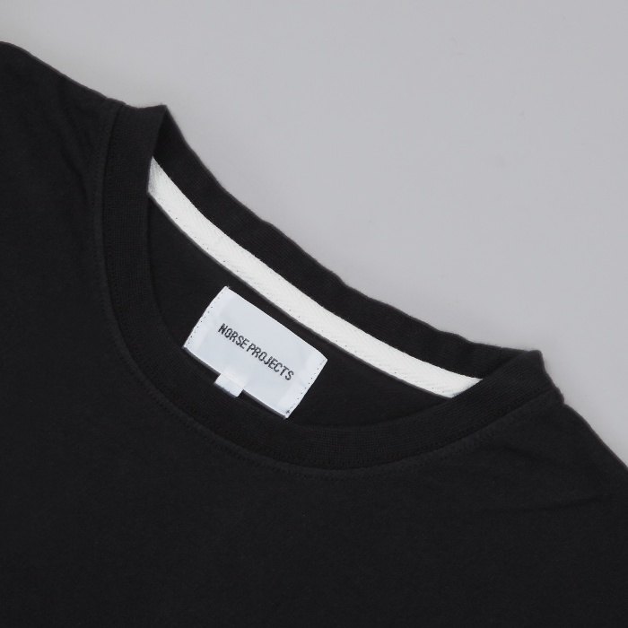 Norse Projects Niels Basic LS T-Shirt - Black (Image 1)