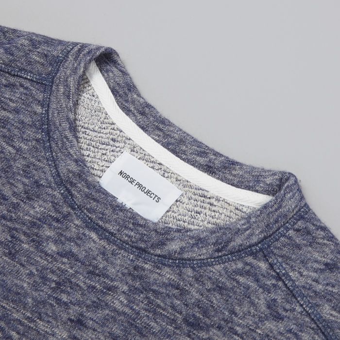 Norse Projects Vagn Crew Sweatshirt - Navy (Image 1)