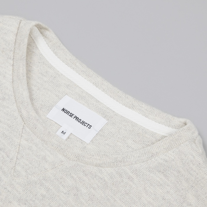 Norse Projects Halfdan Flame Sweatshirt - Birch White (Image 1)