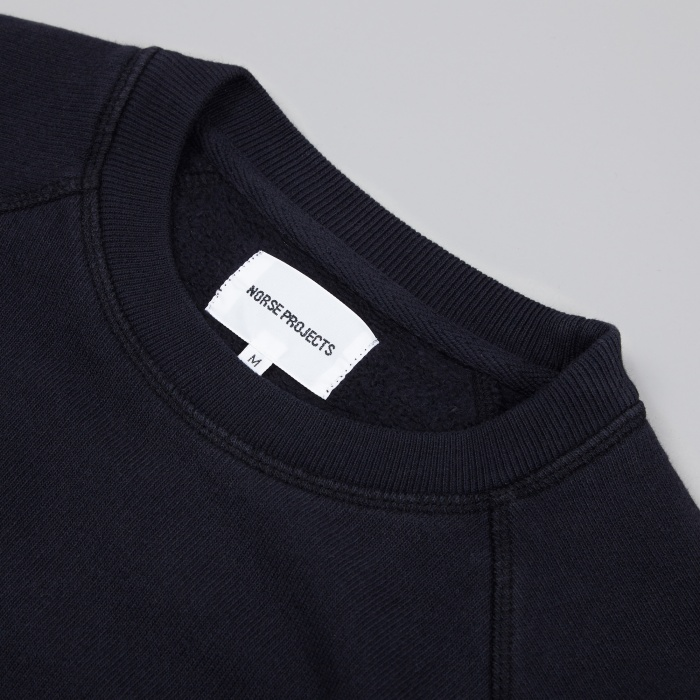 Norse Projects Vorm Brushed Sweatshirt - Dark Navy (Image 1)