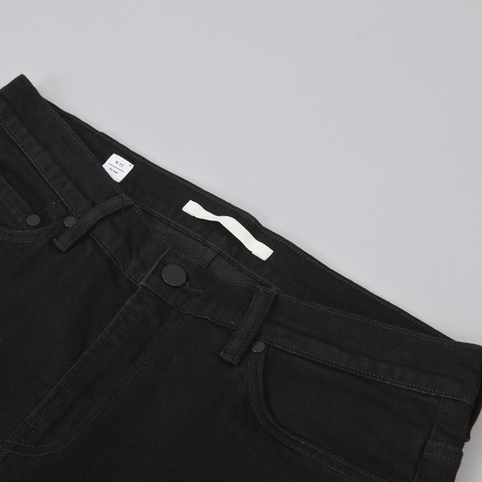 Norse Projects Slim Zip Denim - Black (Image 1)