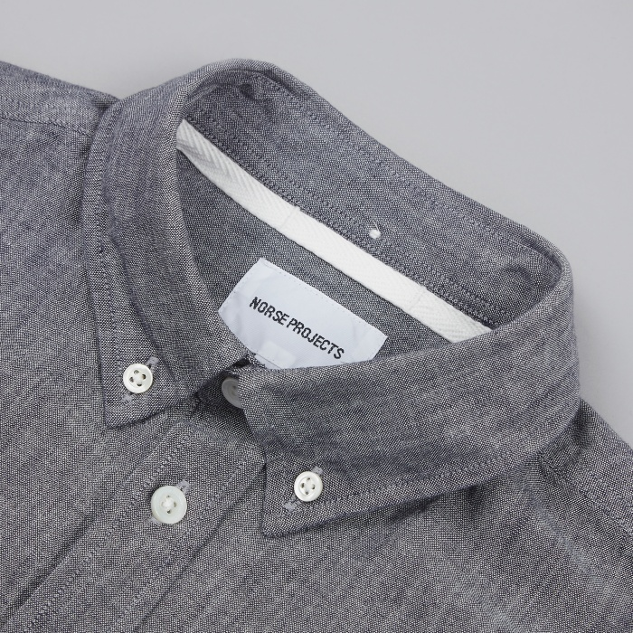 Norse Projects Anton Chambray Shirt - Dark Navy (Image 1)