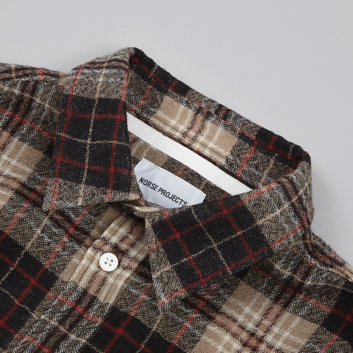 Norse Projects Anton Loose Weave Gauze Shirt - Khaki (Image 1)
