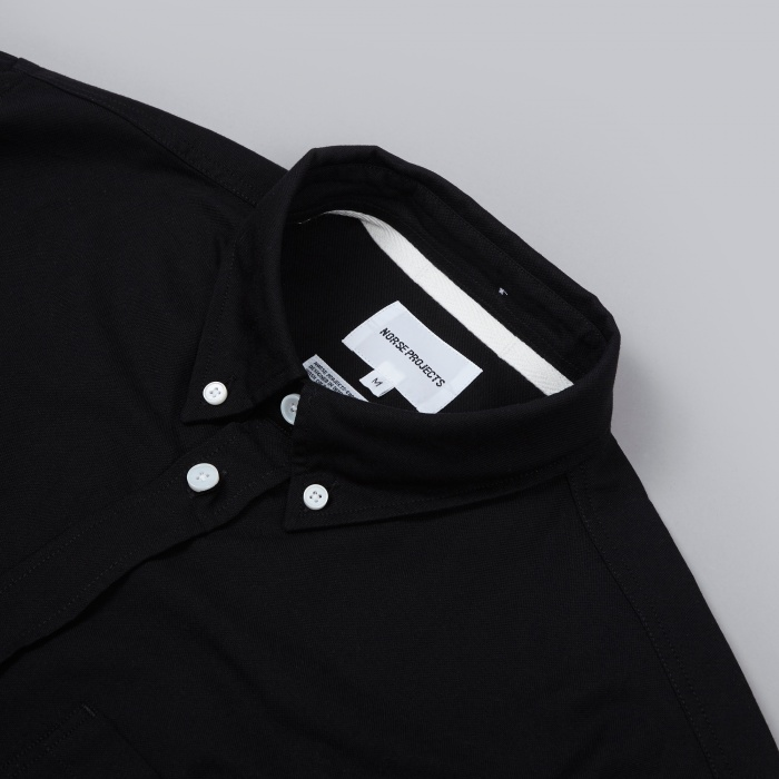 Norse Projects Anton Oxford Shirt - Black (Image 1)