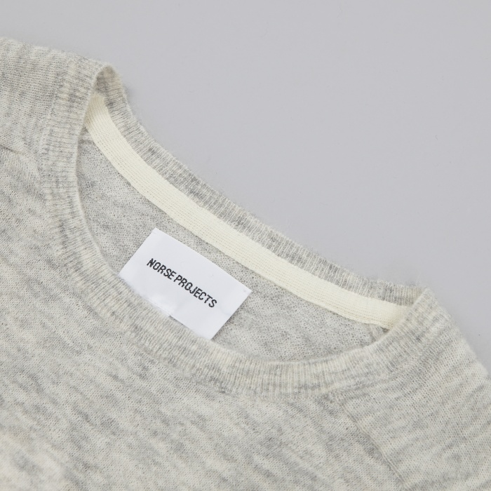 Norse Projects Karl Melange Alpaca Knit - Kit White Melange (Image 1)