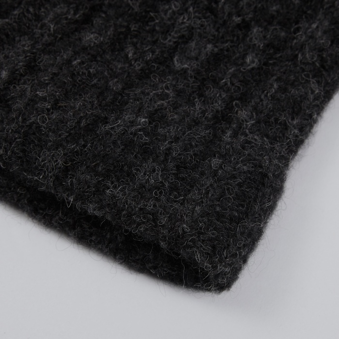 Norse Projects Rib Top Beanie - Charcoal Melange (Image 1)