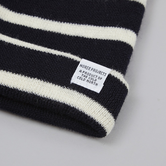 Norse Projects Classic Normandy Beanie - Ecru (Image 1)