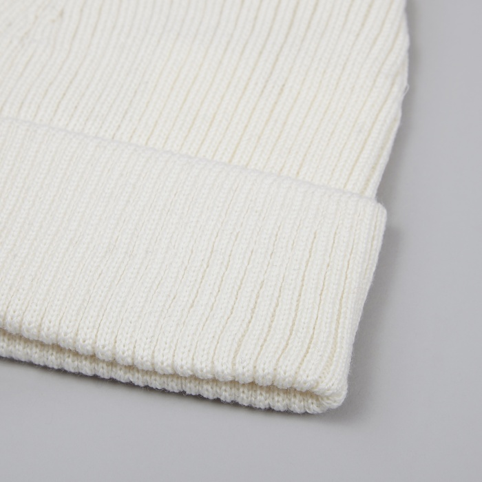 Norse Projects Merino Rib Top Beanie - Kit White (Image 1)