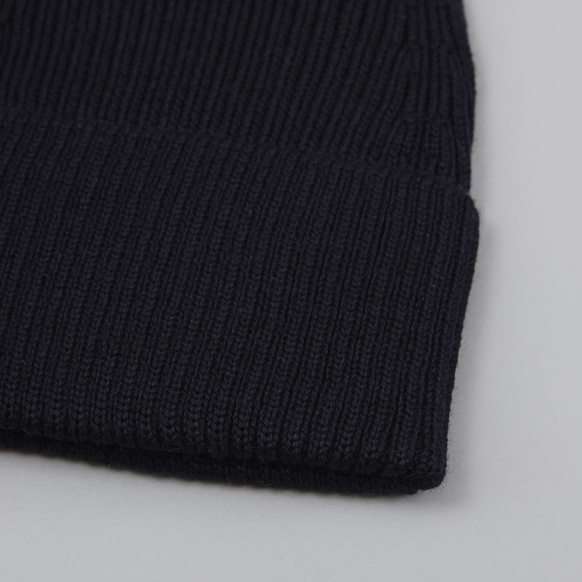 8234edf8773 Norse Projects Merino Rib Top Beanie - Dark Navy