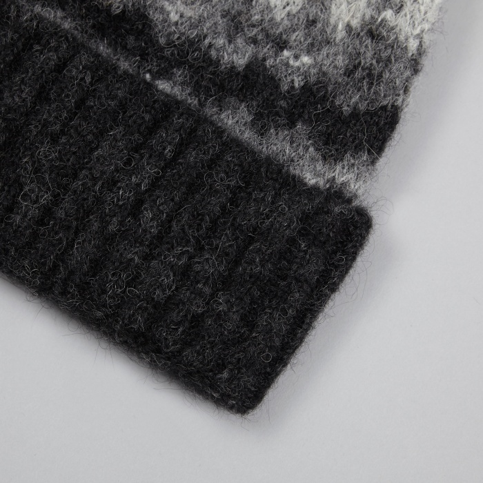 Norse Projects Fairisle Beanie - Charcoal Melange (Image 1)