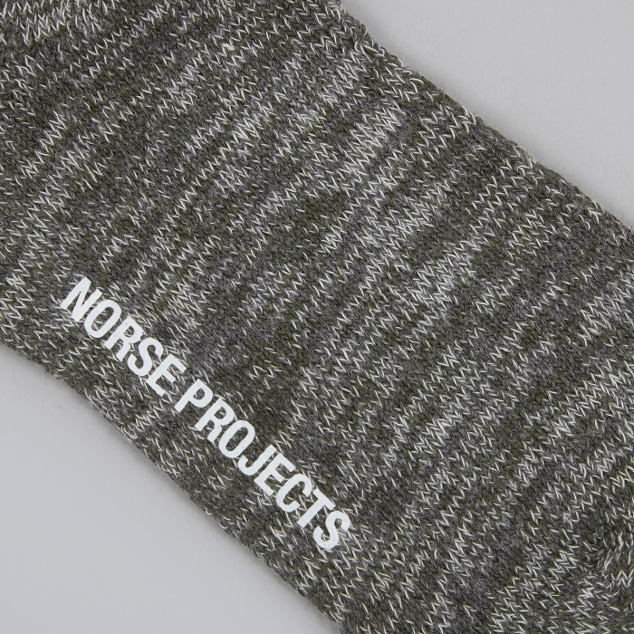 Norse Projects Bjarki Blend Sock - Charcoal (Image 1)