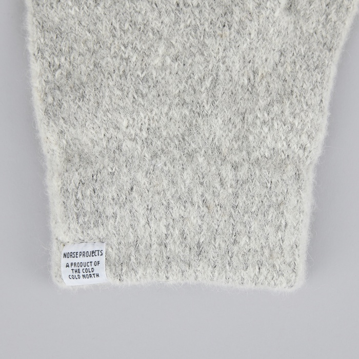 Norse Projects Alpaca Gloves - Light Grey Melange (Image 1)