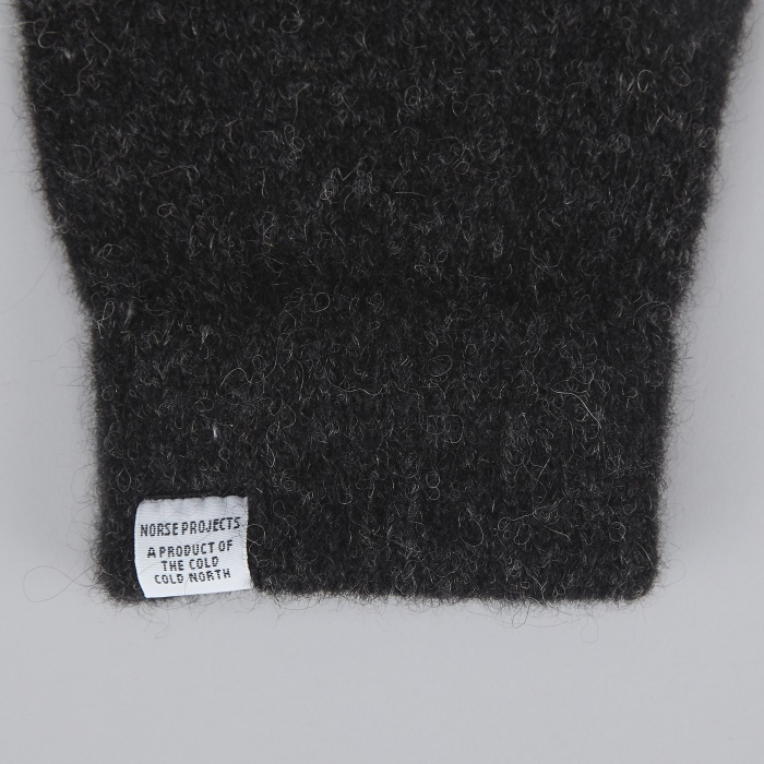 Norse Projects Alpaca Gloves - Charcoal Melange (Image 1)
