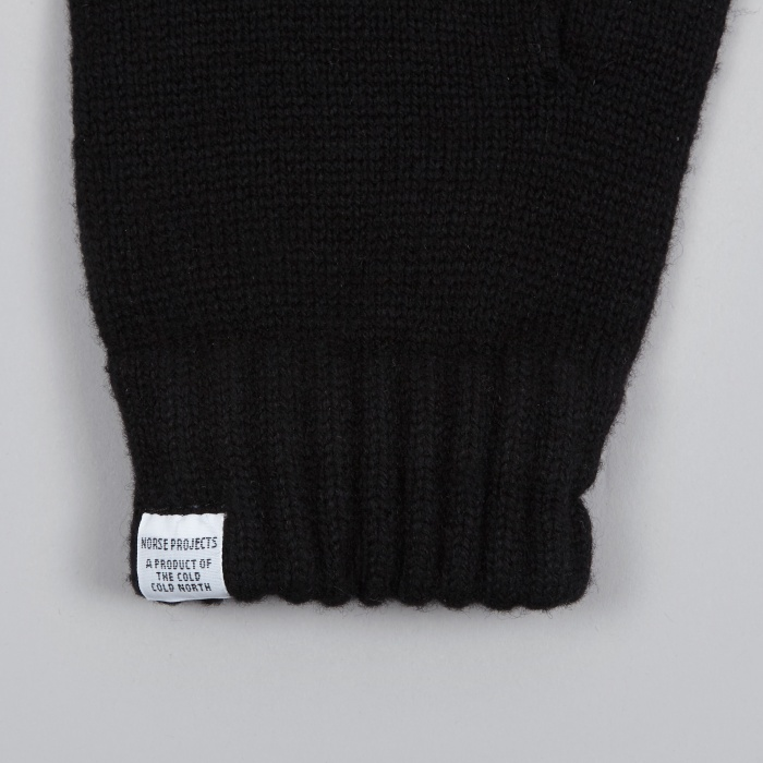 Norse Projects Norse Gloves - Black (Image 1)