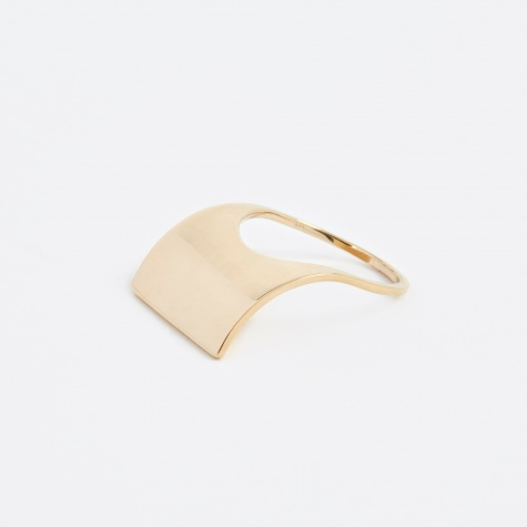 Curved Ring - 10K Gold