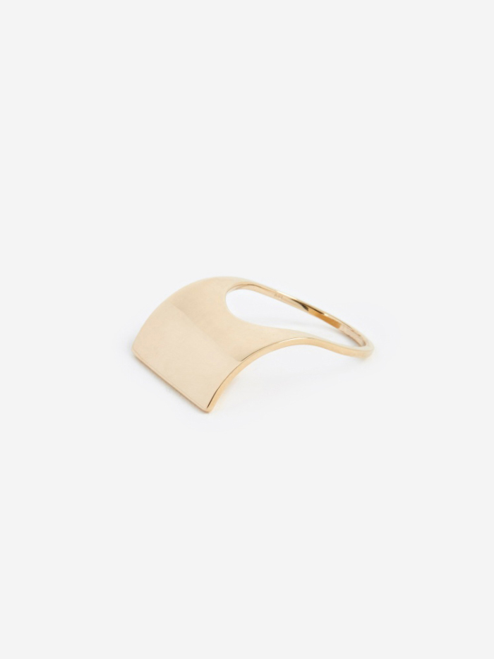 Oljei Curved Ring - 10K Gold (Image 1)