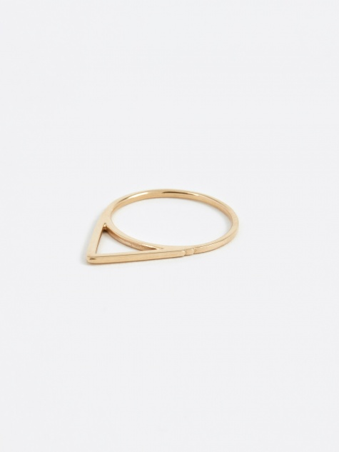 Triangle Ring - 10K Gold