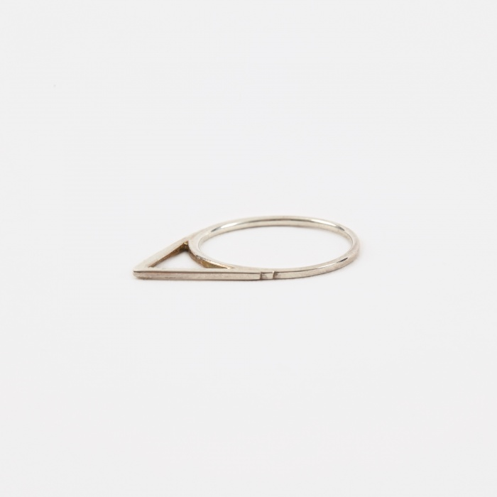 Oljei Triangle Ring - Silver (Image 1)