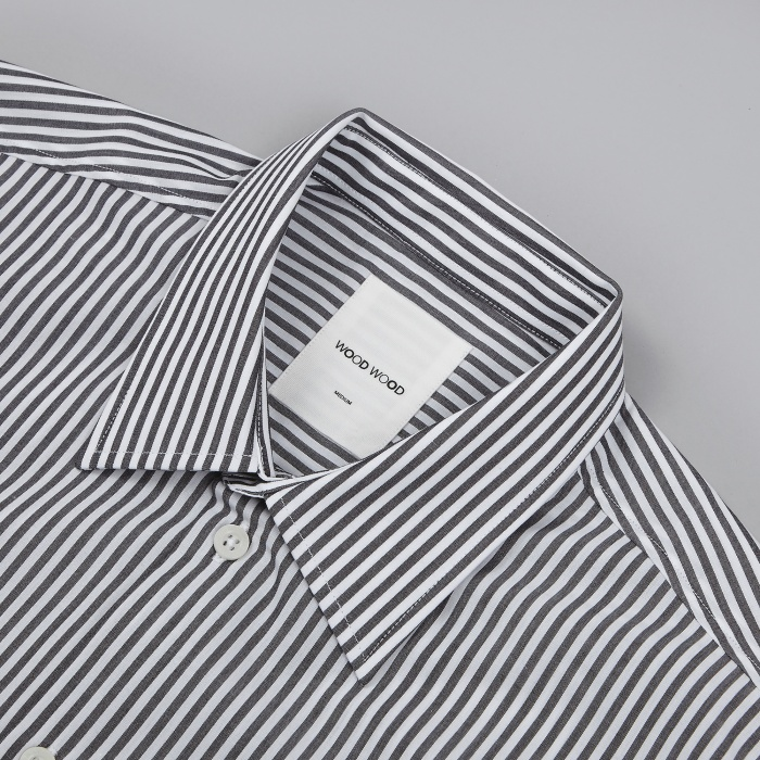 Wood Wood Desmond Shirt - Black Stripe (Image 1)