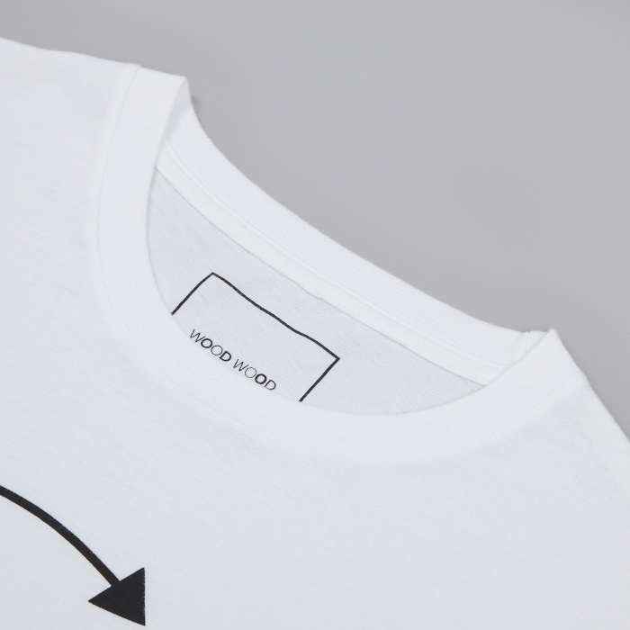 Wood Wood W_W T-Shirt - White (Image 1)