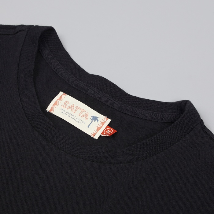 Satta Masala Tee - Washed Black (Image 1)