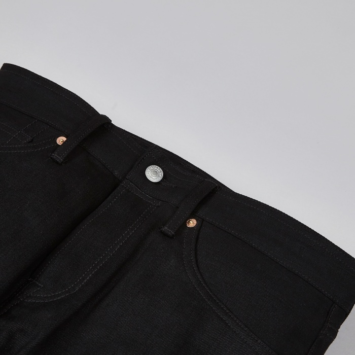 Kings of Indigo Charles Selvage - 13oz Dry Black (Image 1)