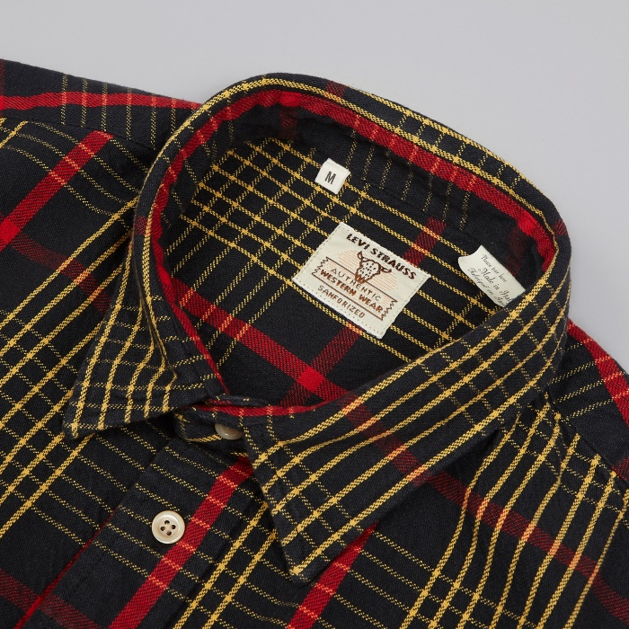 Levi's Vintage Clothing 1950's Shorthorn Shirt - Black (Image 1)