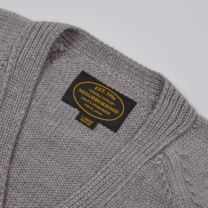 Neighborhood Block Cardigan - Black (Image 1)