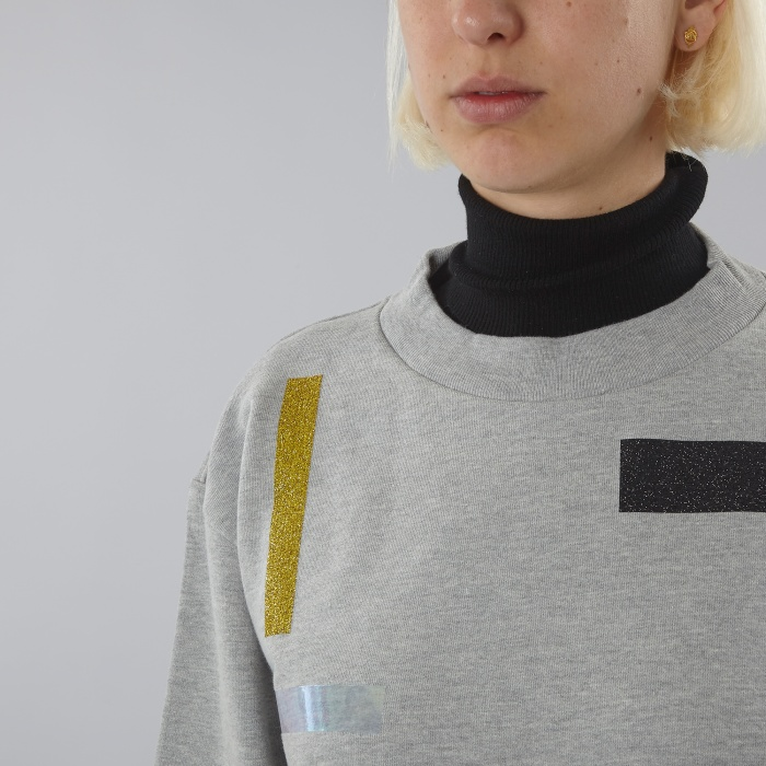 Aries Taped Sweat Shirt - Greymarle (Image 1)